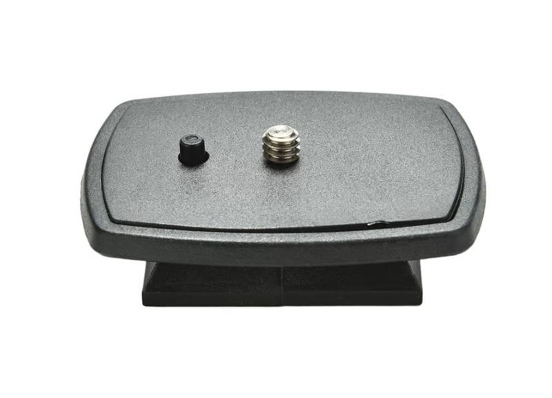 Camera tripod head plate